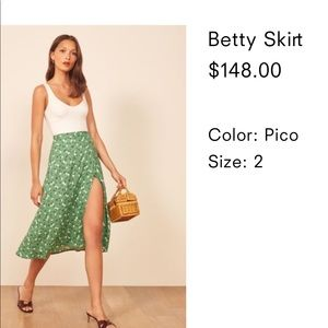 Reformation Betty wrap skirt